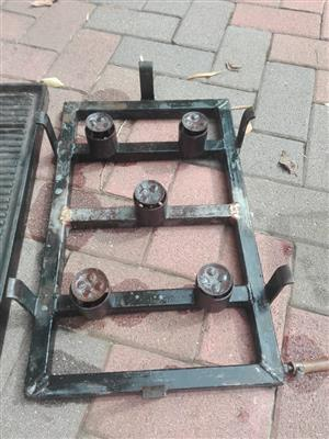 5 burner gas plate, griddle pan, and braai plate