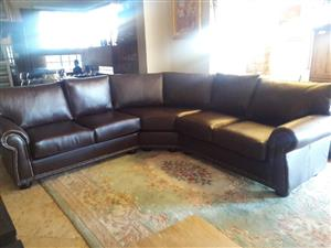Most Beautiful Genuine Leather Corner Lounge Suite Unit