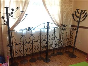 Beautifully detailed steel candle stands for sale