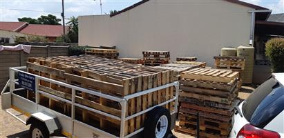 Different sizes USED WOODEN PALLETS FOR SALE FROM R35