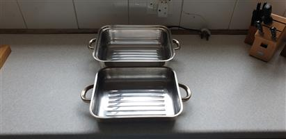 Roasting Tray, Large, Stainless Steel