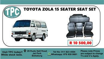 Toyota Zola 15 Seater Seat Set - For Sale at TPC