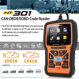 Foxwell NT301 OBDII / EOBD Code Reader NOW IN STOCK!!