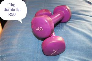 1Kg dumbbells for sale