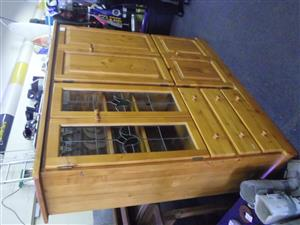 Oregon Pine TV Cabinet
