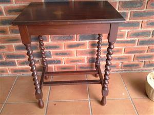 Imbuia ball and claw occasional table 600 mm X 450mm