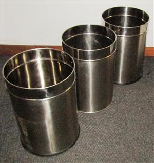 Stainless Steel Waste Paper Bin D=25cm x H=36cm