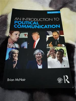 An Introduction to Political Communication secobd hand book