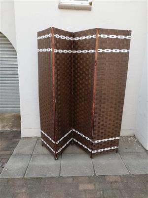 Brown and white sequence room divider
