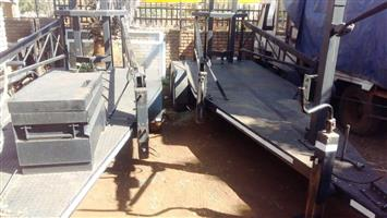 Cannon Dubble Axle heavy duty 2 ton flatbed trailers