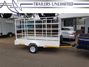 TRAILERS UNLIMITED SINGLE AXLE UTILITY TRAILER.