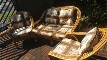 3 Piece cane patio set for sale