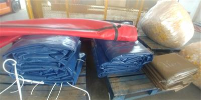 9m x 9m,12m x 9m,16m x 9m,16m x 9m heavy duty pvc truck covers/tarpaulins and cargo nets