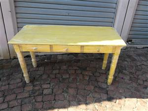 Yellow drawer table for sale