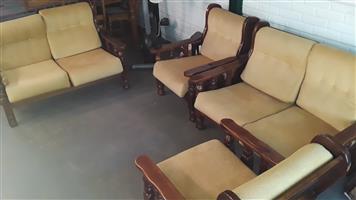 6 Seat Wood Lounge Suit