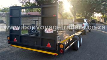 5 X 2 CHECKER PLATE FLOOR CAR TRAILER FOR SALE