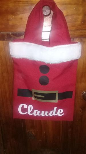 Personalised Santa Bags  R70 & R100 (WITH Quality party pack)