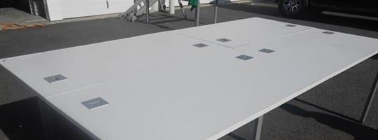 Beautiful White Workstation/Boardroom Tables with strong metal frame for-sale at R 3500 each