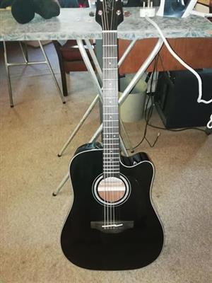 Black Takamine Guitar