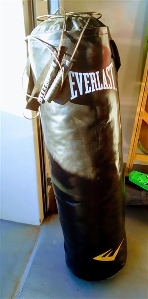 Everlasting punching bag with skipping rope.