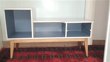 Repurposed TV stand or Book stand