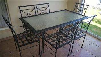 TOTALLY WEATHERPROOF OUTDOOR patio set 6 seater for sale