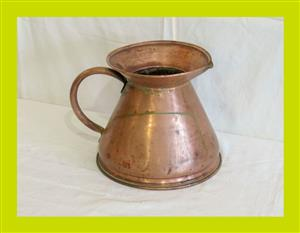 Large Vintage Copper Water Pitcher (SKU 97)