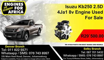 Isuzu Kb250 2.5D 4Ja1 8v Engine Used For Sale.