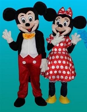 CHARACTER MASCOT COSTUMES FOR SALE: Mickey/Minnie/Smurf/Winnie