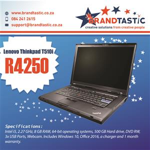 Blazing-fast Lenovo i5 Laptop with 8Gb Ram @ R4250