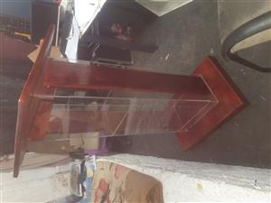 Wood and perspex pulpit