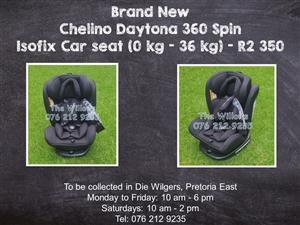 Brand New Chelino Daytona 360 Spin Isofix Car seat (0 kg - 36 kg)