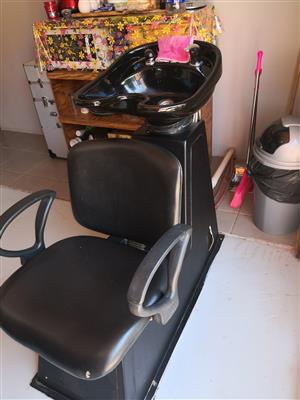 HAIR SALON WASH CHAIR WITH BASIN