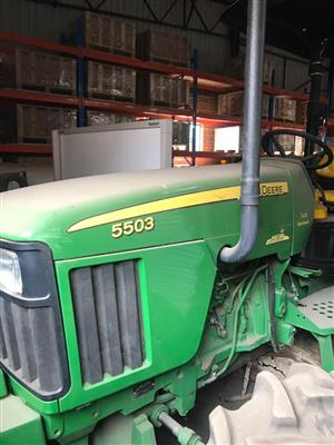 John Deer 5503 tractor with IMPLEMENTS