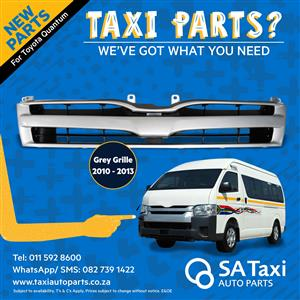 New Grey Grille 2010-2013 suitable for Toyota Quantum - SA Taxi Auto Parts quality taxi spares