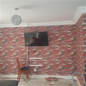 Renovations and wallpaper installation