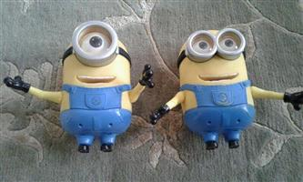 Two minion figurines(20cm ea in size) for sale.
