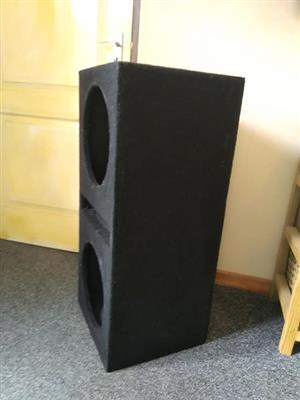"Duel 12"" subwoofer box good condition"