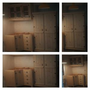 Kitchen Cupboard Farmhouse series 1300 Combo 2 Raw