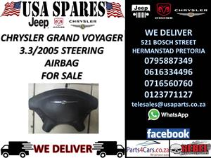 CHRYSLER GRAND VOUAGER 3.3 2005 STEERING AIRBAG FOR SALE