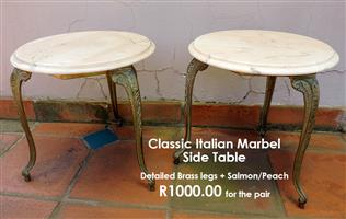 Classic Italian Marble Side Tables