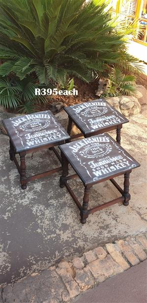 Jack Daniels Side Tables (440x440x450) EACH R395