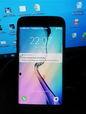 samsung s6 edge cracked works 100%