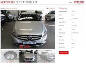2013 Mercedes Benz A-Class