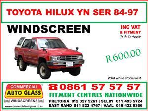Toyota Corolla & Hilux windscreens supply & fit