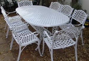 Outdoor cast aluminium patio garden furniture South Africa