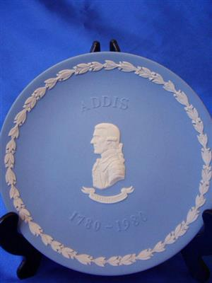 Vintage Wedgewood Royal Blue Jasperwear - Wall Plate Addis 1970 - 1980