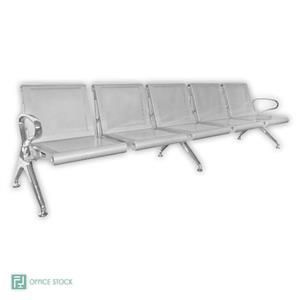New Chrome Delux 2 Seater Airport Seating Bench   Office Stock