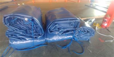 Heavy duty pvc truck covers/tarpaulins and cargo nets for super-link and tri_axle