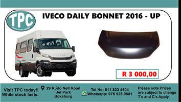 Iveco Daily Bonnet 2016 - up - For Sale at TPC.